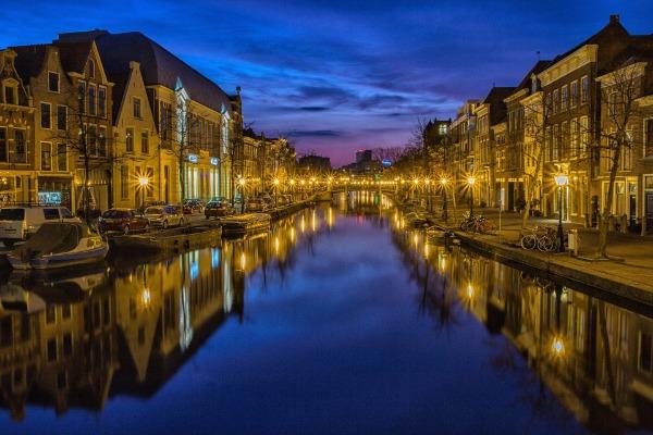 kanaal in Leiden